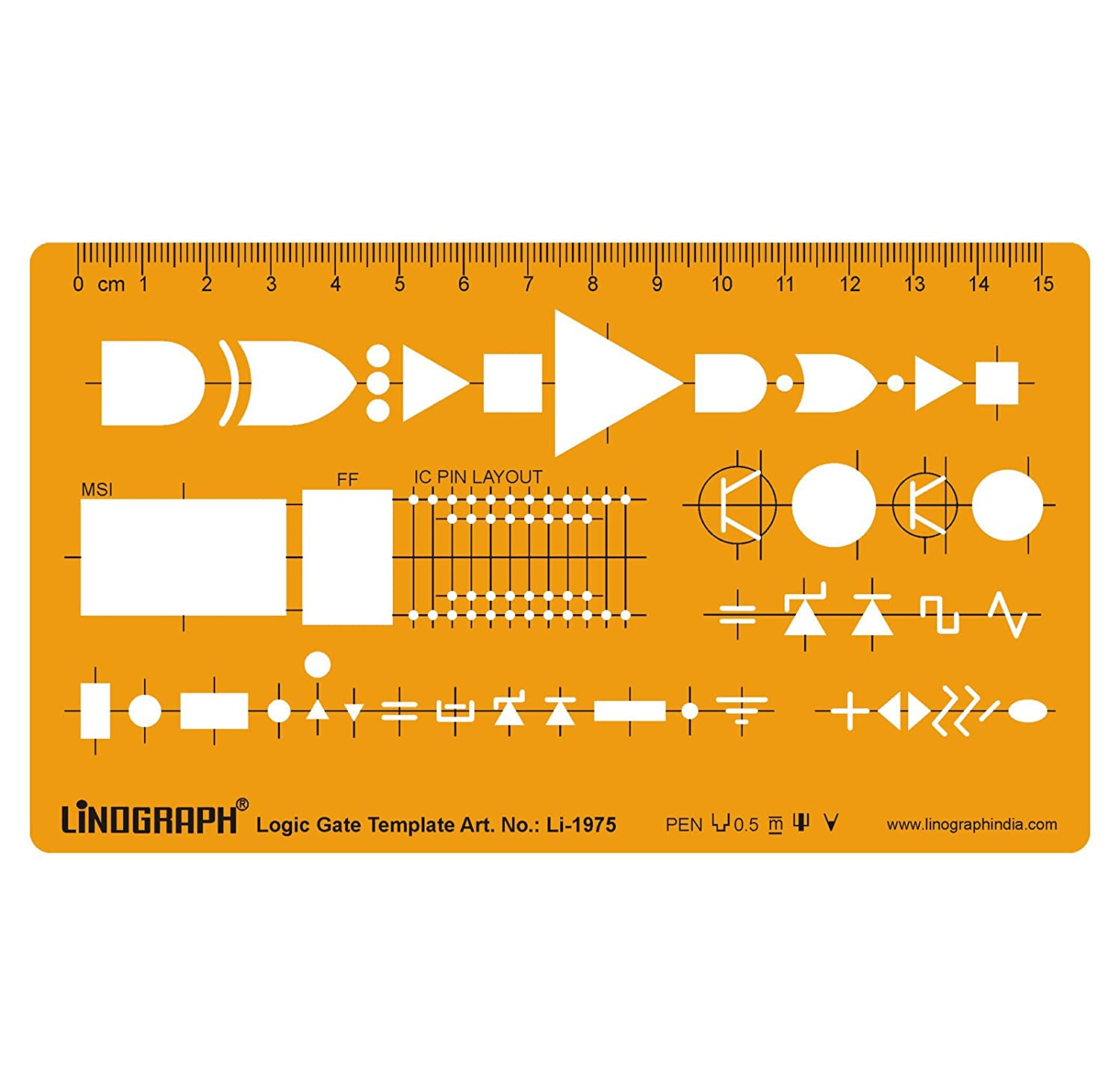Logic Gate Template Drafting And Design Templates 2 Way Switch Stencil Symbols Technical Drawing Scale Office Products