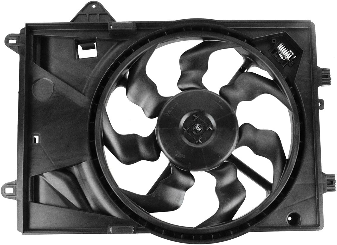 TYC 610900 Vollkswagen Passat Replacement Condenser Cooling Fan Assembly