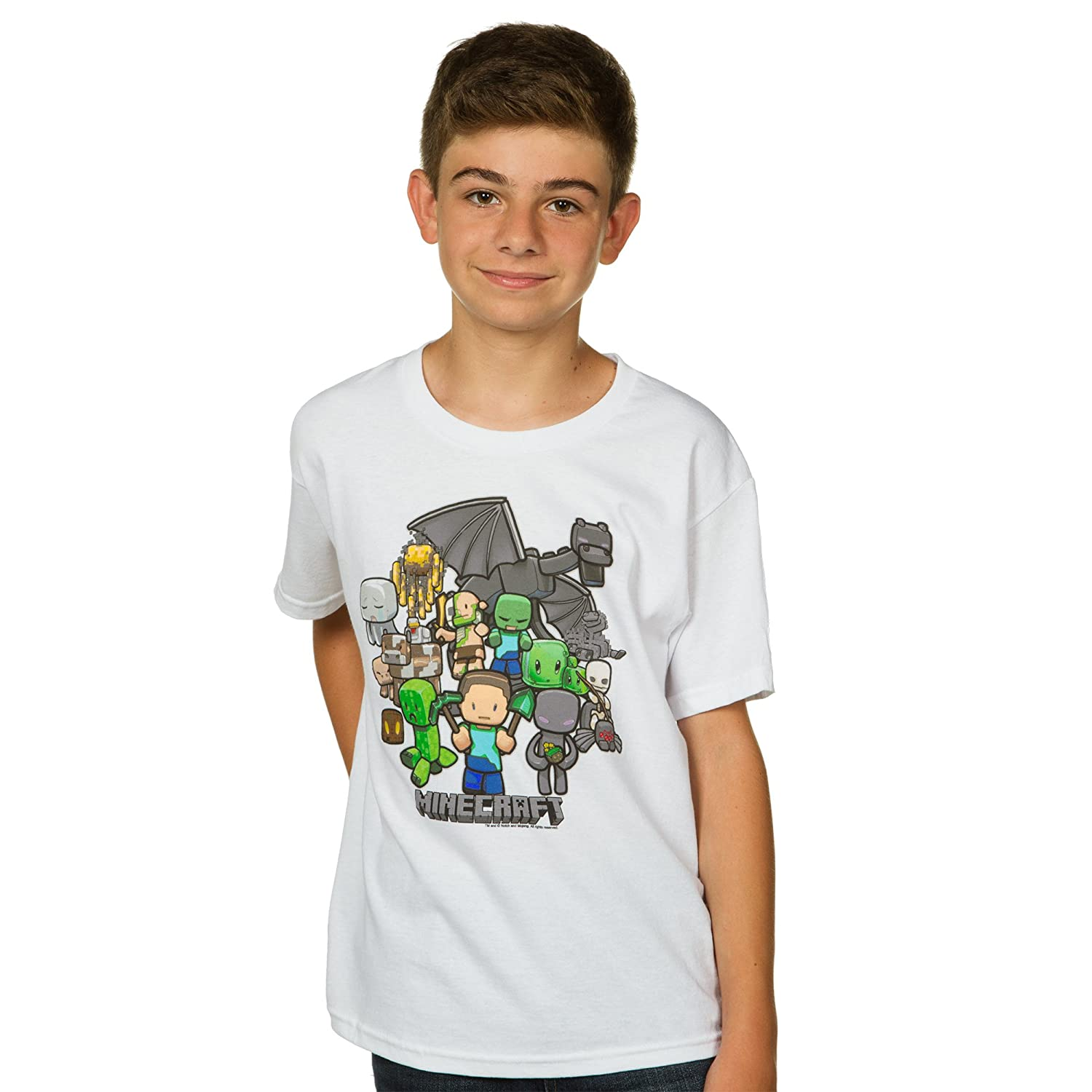 Amazon.com: JINX Minecraft Big Boys\u0027 Party T-Shirt: Clothing