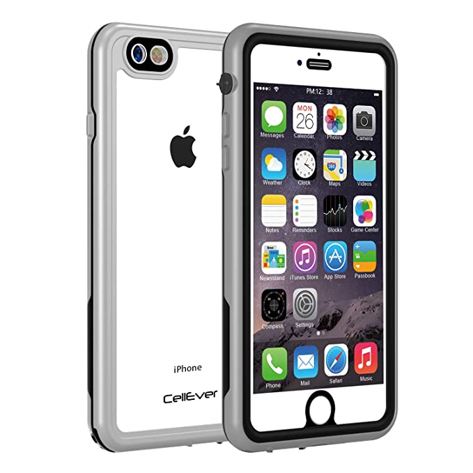 pretty nice 9fb1a 4e763 CellEver iPhone 6 Plus Case Waterproof Shockproof IP68 Certified SandProof  Snowproof Full Body Protective Cover Fits Apple iPhone 6 Plus (5.5