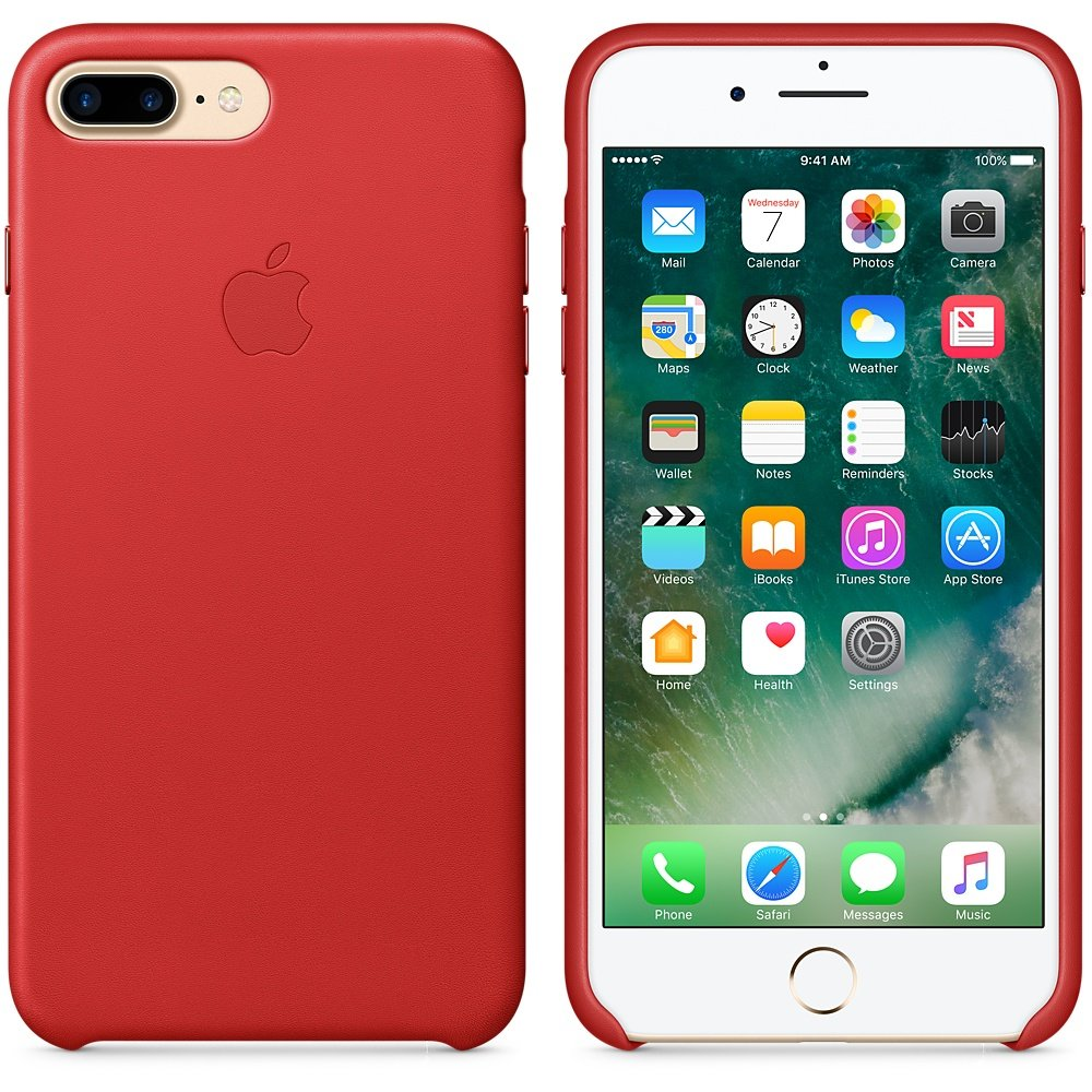 red leather case iphone 7 plus