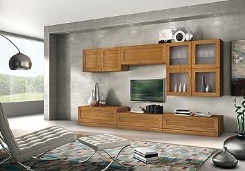 TV-Wohnwand aus Eschenholz, Möbel Wohnwand in Stil modern, TV-Möbel ...