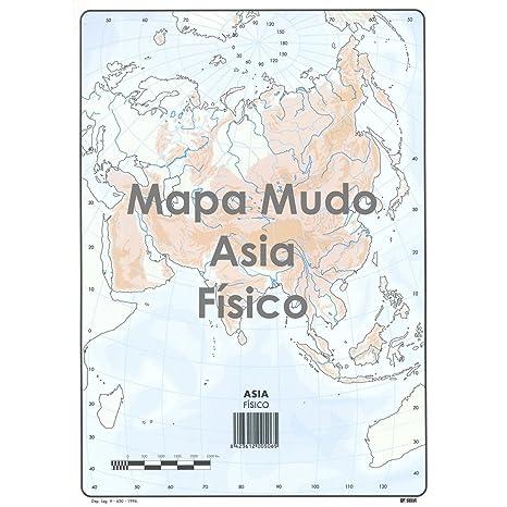 Mapa Mudo Selvi Color Din A4 Physical Box X50 Asia Amazon Co Uk