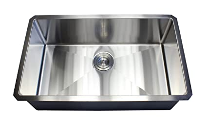 ARIEL - 30 Inch Stainless Steel Undermount Single Bowl Kitchen Sink ...
