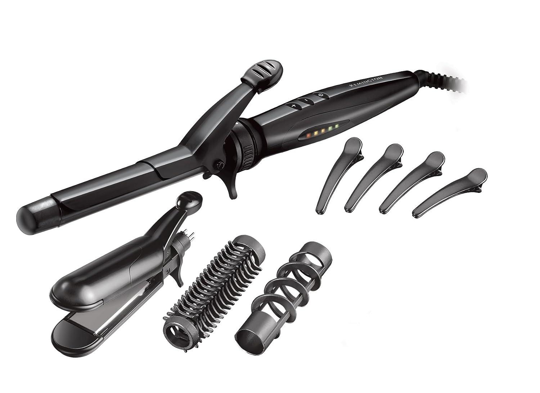 Remington S8670 Multi Styler - Moldeador de pelo, exclusivo revestimiento de teflón, cerámica y turmalina, varios accesorios 45278560710