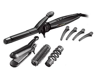 Remington Multi Styler S8670 Kit Rizador y Alisador de Pelo 5 en 1, Teflón, Cerámica y Turmalina, Digital, Negro