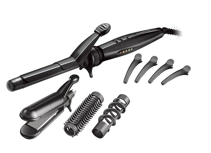 Remington Multi Styler S8670 Kit Rizador y Alisador de Pelo 5 en 1 ...