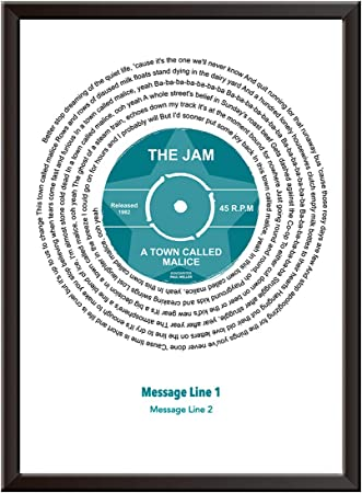 One of these nights Song Lyrics Print VINYL Record PERSONALISED The Eagles