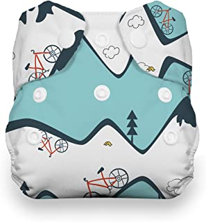 product image for Thirsties Natural Newborn All in One Cloth Diaper, Snap Closure, Mountain Bike (5-14 lbs)