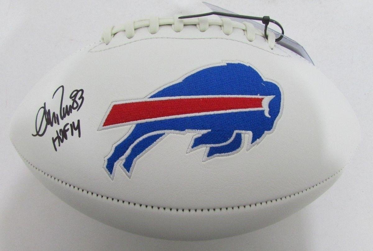 Andre Reed Signed Ball - HOF 14 Logo - JSA Certified - Autographed Footballs Best Authentics
