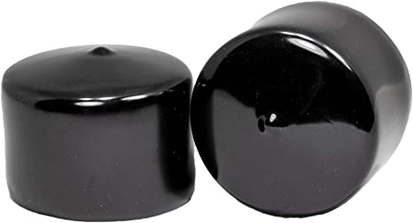 Amazon Com Prescott Plastics 2 1 4 Inch Round Black Vinyl End Cap Flexible Pipe Post Rubber Cover 4 Kitchen Dining
