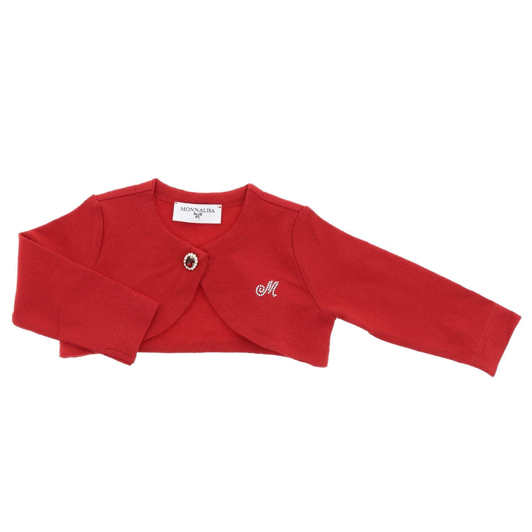 Monnalisa Luxury Fashion Baby-Girls Cardigan Summer Red by Monnalisa