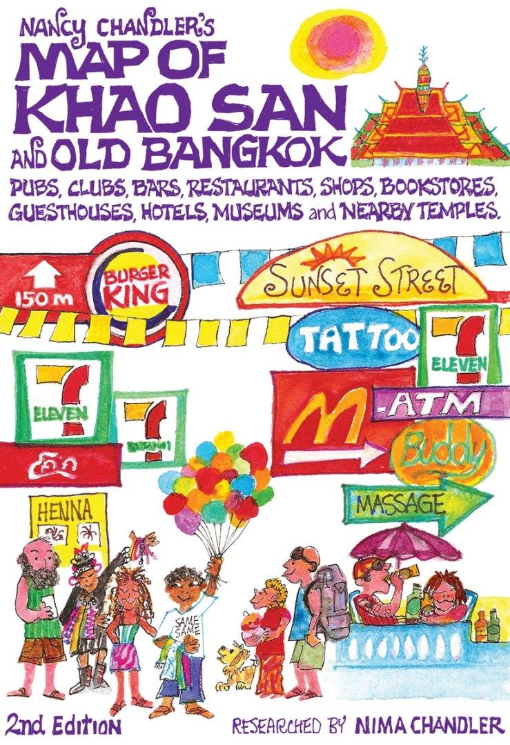 nancy chandler's map of khao san  old bangkok nd ed nima  - nancy chandler's map of khao san  old bangkok nd ed nima chandlernancy chandler  amazoncom books