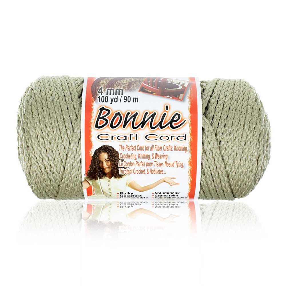 Craft County - 4MM Bonnie Cord - 100 Yards - Wide Variety Color Selection - Macramé Cord