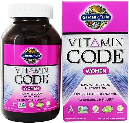 Amazon Com Garden Of Life Vitamin Code Raw Women S Multivitamin 240 Vegetarian Capsules Pack Of 3 Health Personal Care