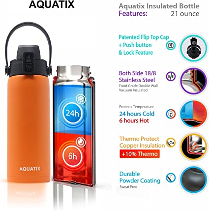 New Stainless Steel Water Bottle Double Wall Vacuum Insulated For Sports Fitness