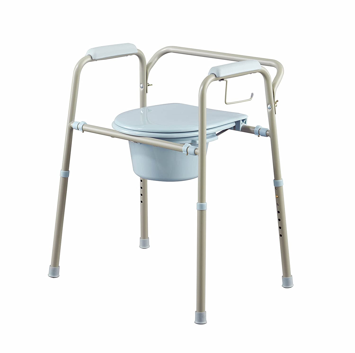 Amazon.com: Medline MDS89664KDMB 3-in-1 Steel Bedside Microban ...