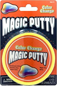 Magic time Interantional 5527436 3 Pack Magic Putty Clear Putty, Color Change Putty & Ameythst Fire Putty, Multicolor