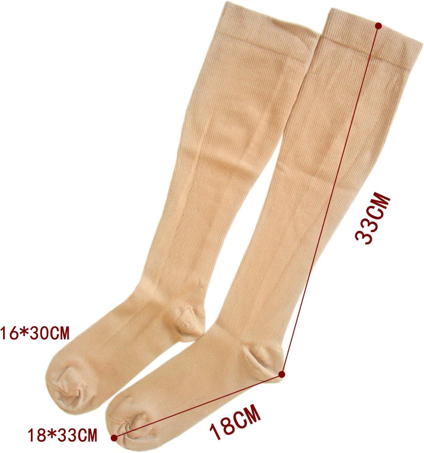 unisex calze a compressione test di laboratorio approvato sostegno costante 35-38, nero