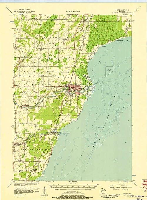 Amazon Com Yellowmaps Oconto Wi Topo Map 1 62500 Scale 15 X 15