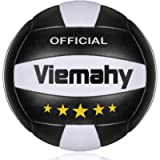 Super Soft Volleyball - Waterproof Indoor/Outdoor Official Volleyball for Pool,Game,Gym,Training,Beach Play (Size 5)