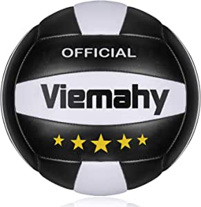 Viemahy Official Size 5 Volleyball, Soft Indoor Outdoor Volleyball for Game Gym Training Beach Play…