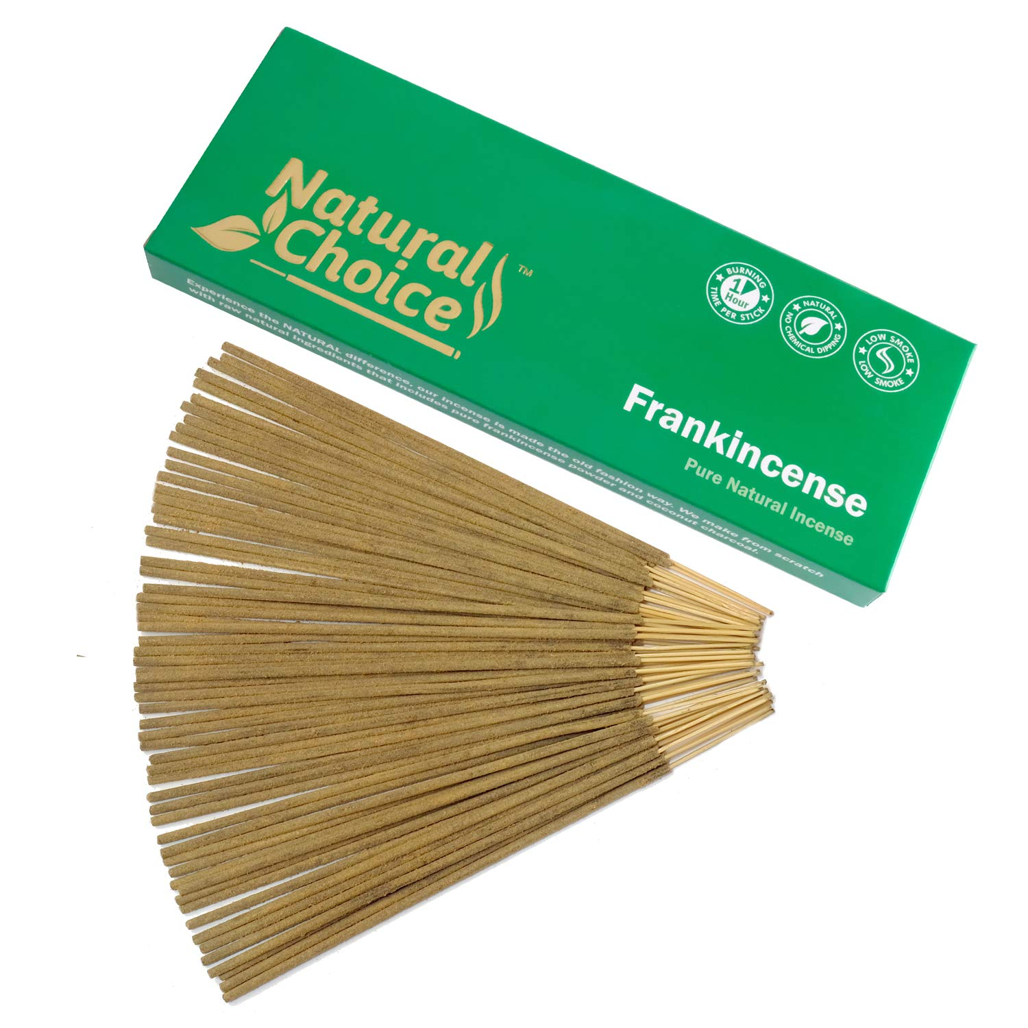 Natural Choice Incense Frankincense (Loban) Incense Sticks 100 Grams, Low Smoke Traditional Incense Sticks Made from Scratch, Never Dipped by Natural Choice Incense (Image #1)