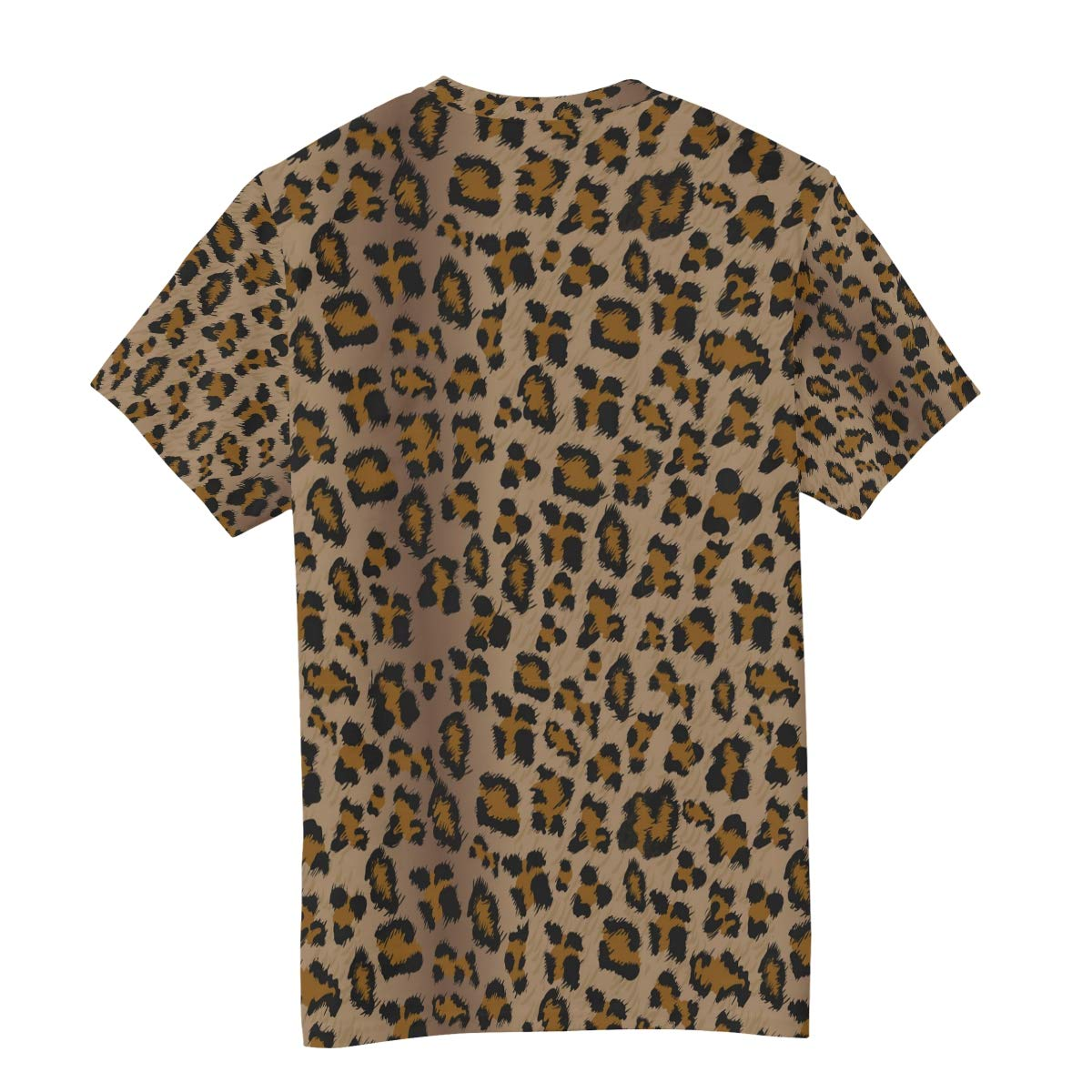 Horatiood Huberyyd Dark System Leopard Print Mens T Shirts Graphic Funny Body Print Short T-Shirt Unisex Pullover Blouse