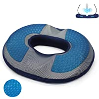 Gel Seat Cushion for Men, Memory Foam Chair Pillow with Cooling Gel for Sciatica, Coccyx, Back & Tailbone Pain Relief…