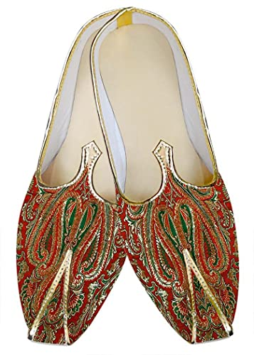 Mens Red and Green Wedding Shoes MJ012655