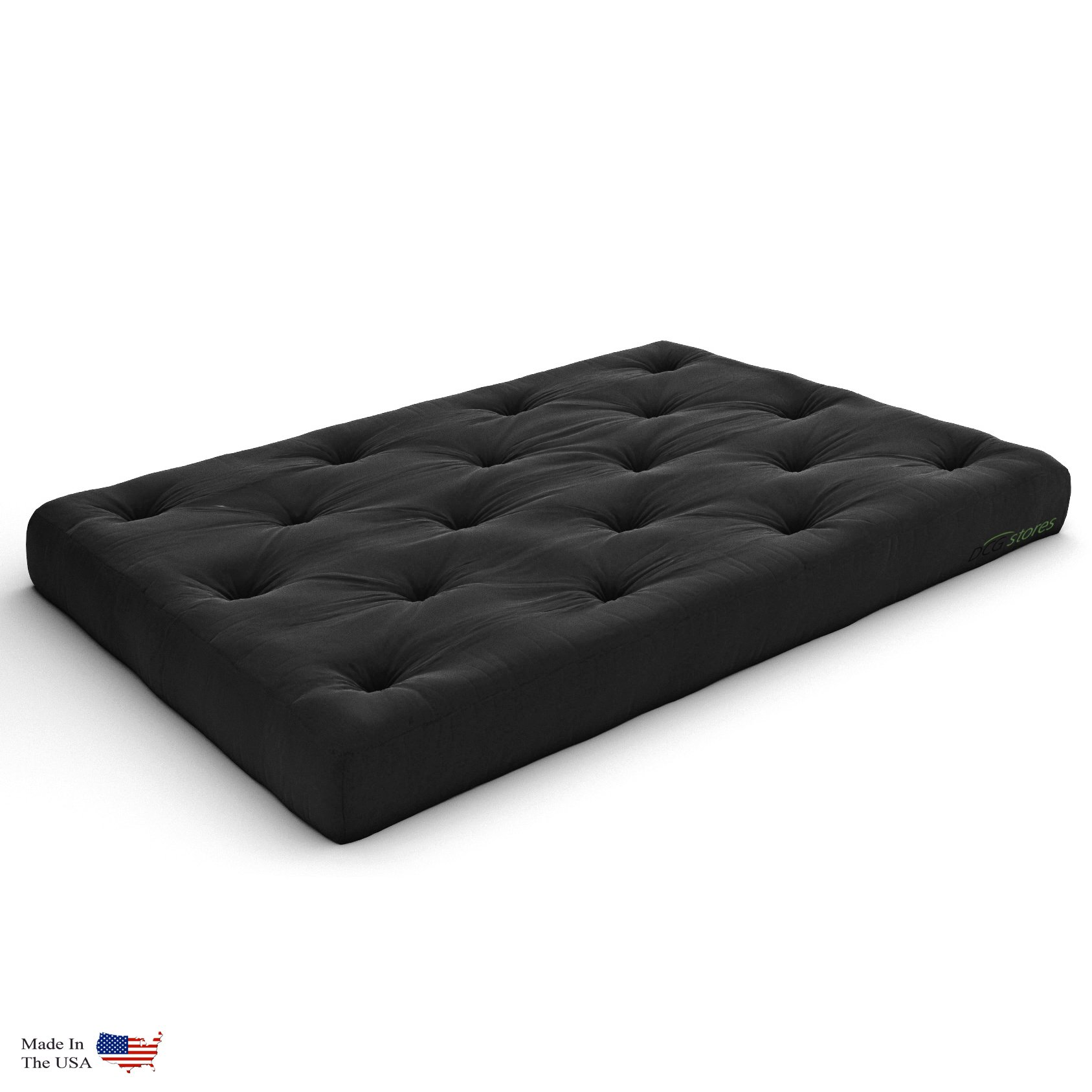Nirvana Futons Extra Thick Premium 10-Inch Queen Futon Mattress, Black Twill - Made in USA by Nirvana Futons