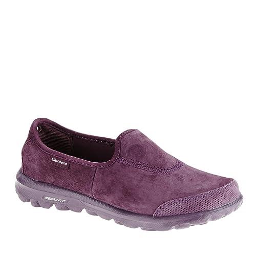 2f6d6abc56a4 Skechers Go Walk Winter Womens Slip On Walking Shoes Purple 6.5 ...