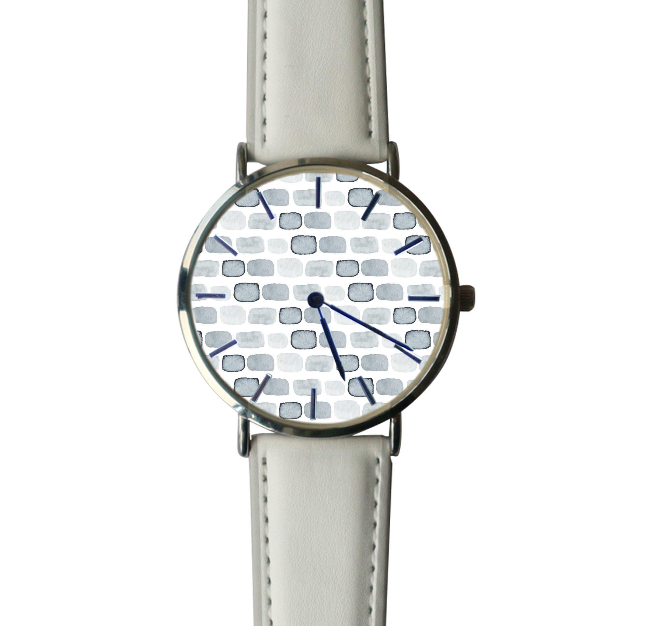 JISJJCKJSX Gray Geometric custom watches quartz watch stainless steel case