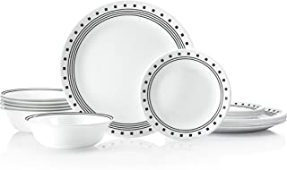 product image for Corelle Service for 6, Chip Resistant, City Block dinner plates, 18-piece