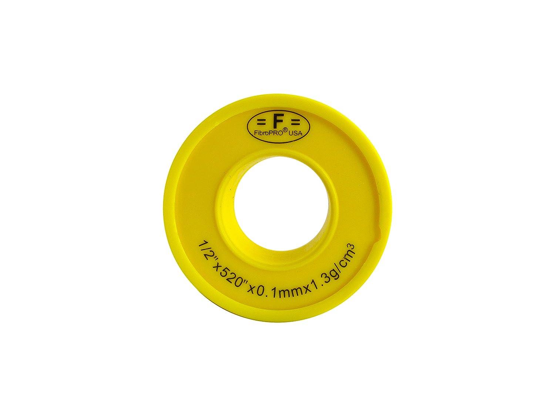 1//2x520 Yellow 1//2x520 Yellow FibroPro 50-pack Gas and Drinking Water Teflon//PTFE Tape