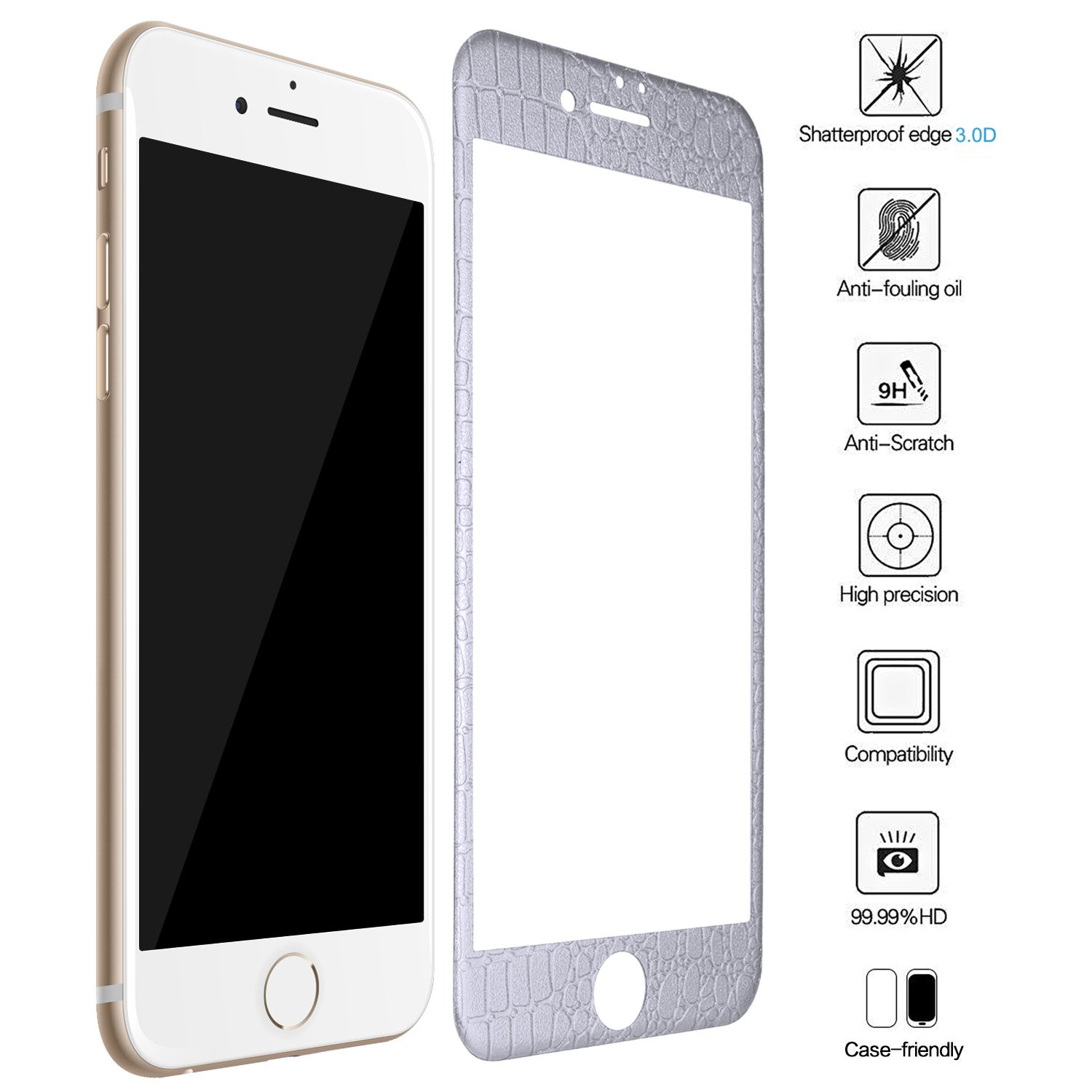 iPhone 6S Plus Panzerglas ZXK CO Full Screen 3D Curved Amazon puter & Zubehör