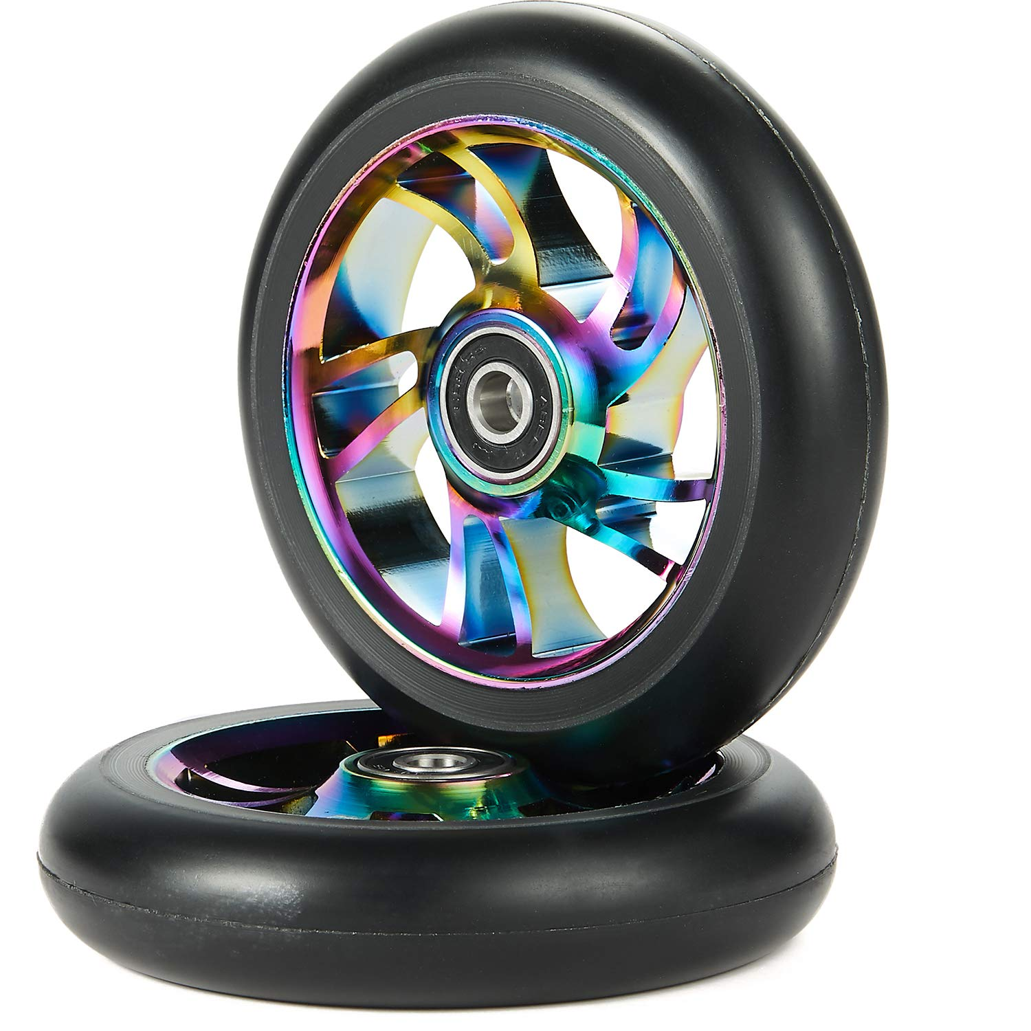 Kutrick 100mm Pro Stunt Scooter Replacement Wheels with ABEC 9 Bearing Come with Complete 2pcs
