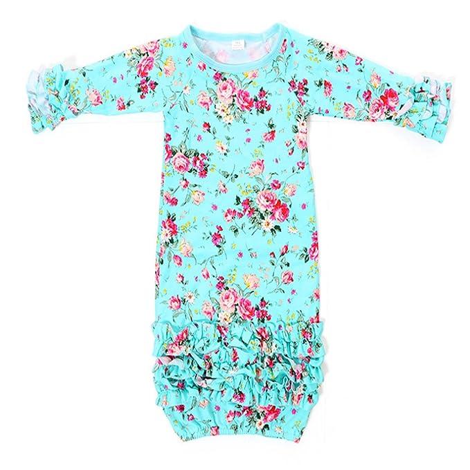 04604e9612e5 Amazon.com  Infant Newborn Baby Girl Fold Lace Night Gowns Sleeping ...