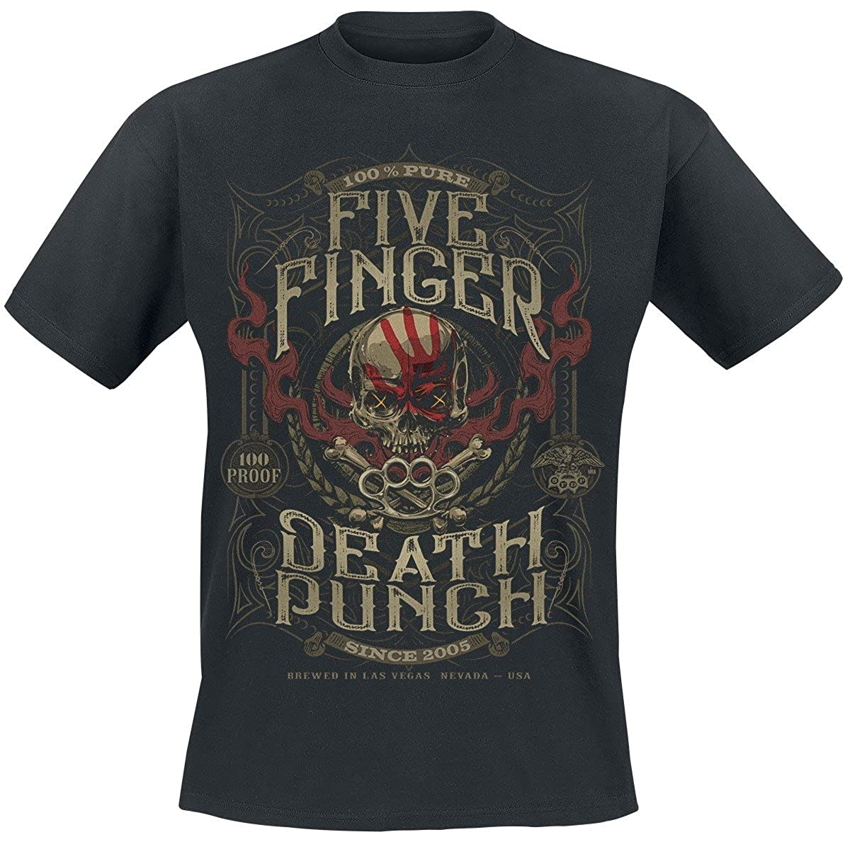 Five Finger Death Punch 100 Proof T-Shirt schwarz