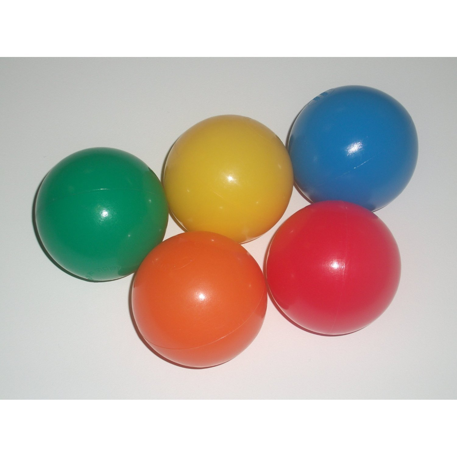 My Balls Pack of 500 Jumbo Size 3'' Crush-Proof Ball Pit Balls - Phthalate Free, BPA Free, PVC Free, in 5 Bright Colors