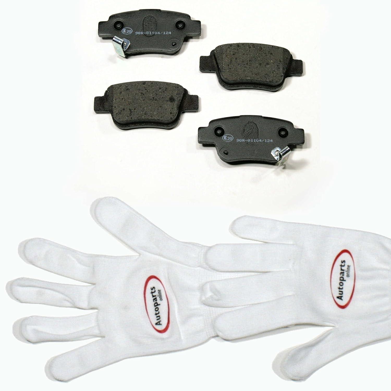 Autoparts-Online Set 60006459 Bremsbel/äge//Bremskl/ötze hinten