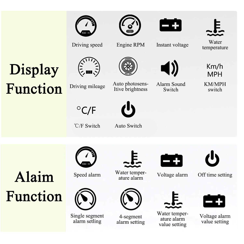 Universal coche HUD Head Up Display digital GPS veloc/ímetro br/újula aceleraci/ón prueba de freno prueba de sobrevelocidad alarma Pantalla LCD HD para todos los veh/ículos GPS
