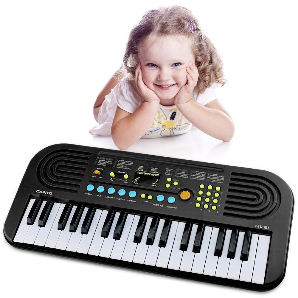 Piano keyboard for kids, Keyboard Piano 37 Keys Multifunction Portable Piano Electronic Keyboard Music Instrument for Kids Early Learning Educational Toy for 3-12 Year Old Girls Boys Gifts Age 3-12 by M SANMERSEN