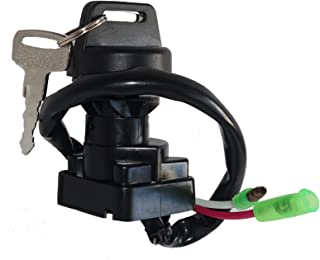 Motadin Ignition Key Switch for Kawasaki BAYOU 220 KLF220 1996-2002 / LAKOTA 300 KEF300 1995-2000