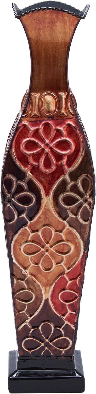 Elements Harlequin Metal Vase, Assorted