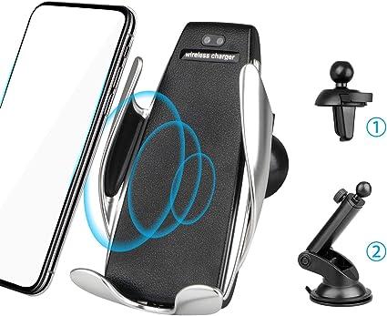 EEEKit Wireless Automatic Clamping 7.5W 10W Qi Schnelle Autoaufladung Handyhalter Air Vent Armaturenbrett Windschutzscheibe für iPhone, Samsung und