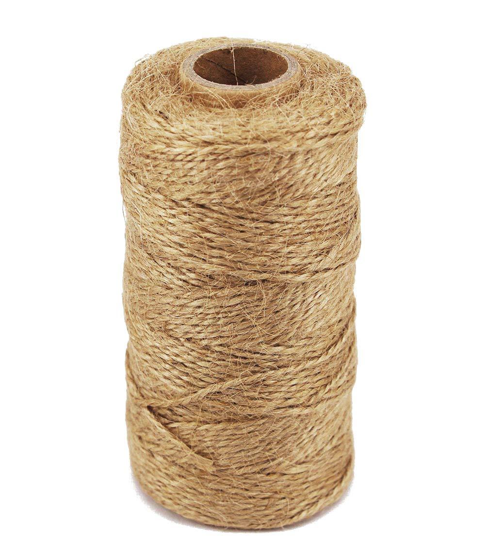 TIAMALL 300 Feet Natural Jute Twine Gift Twine String Packing String