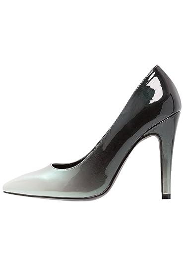 Elegante High-Heel mit Stiletto Absatz in Rosa Schwarz und Größe 38 Pumps in Lacklederoptik qAjD3jrohs