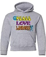 Sports Katz Big Girls 'Peace Love' LACROSSE Hoodie