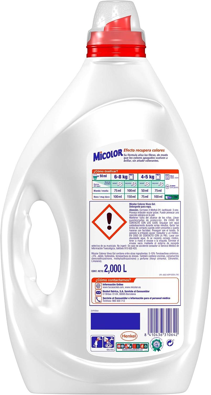 Micolor Detergente Líquido Colores Vivos - 40 Lavados (2 L ...